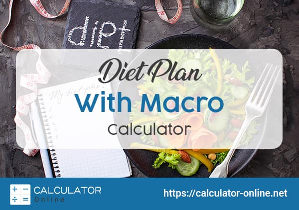 plan your diet with macro calculator